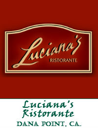 Lucianas Ristorante Wedding Venue In Dana Point California