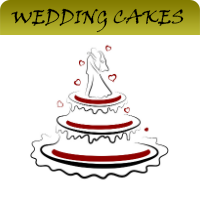 post rounded wedding cakes