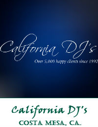 California DJs Orange County Wedding DJ In Costa Mesa California