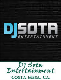 DJ Sota Entertainment Orange County Wedding DJ In Costa Mesa California