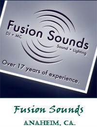 Fusion Sounds Orange County Wedding DJ In Anaheim California