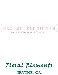 Floral Elements Wedding Flowwers In Irvine California
