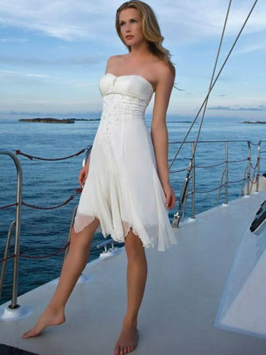 Wedding Dresses Orange County - Short Beach Wedding Dresses