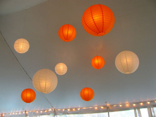 Orange Paper Lanterns For Weddings