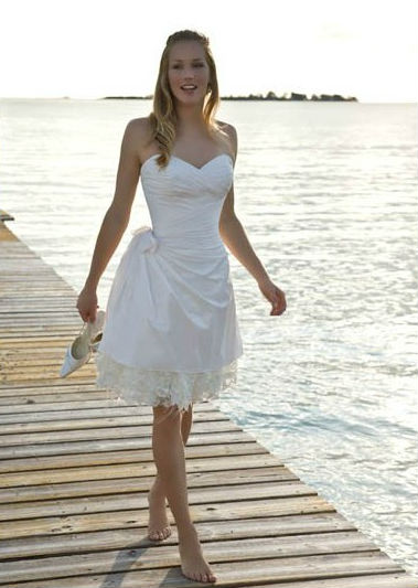 Wedding Dresses Orange County - Short Beach Wedding Dresses