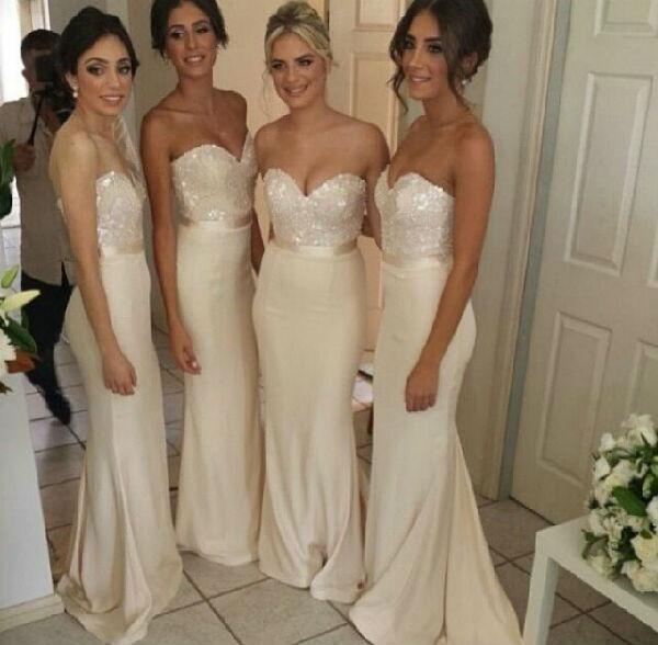 Off White Bridesmaids Dresses