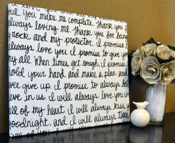 writing own vows Many couples choose to write their own vows for their vow renewal ceremony you two have been through a lot together over the years, so saying something that reflects your history together is a wonderful touch.