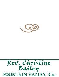 Rev Christine Bailey Wedding Officiant Orange County In Fountain Valley California