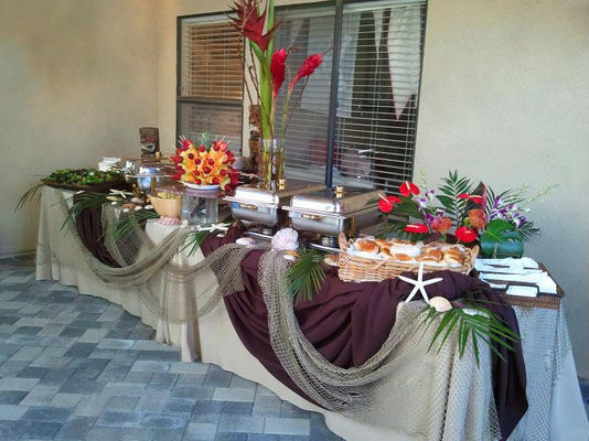 Orange County Hawaiian Luau Wedding Catering
