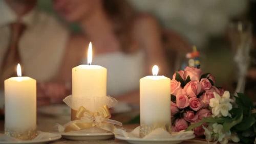 Candles As Decorations Wedding Venues In Orange County
