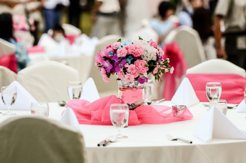 Flowers As Decorations Wedding Venues In Orange County